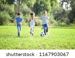 cute little children playing... | Shutterstock . vector #1167903067