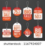 set of promotion price tag... | Shutterstock .eps vector #1167924007