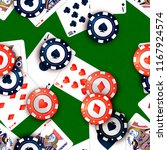 bright casino chips and poker... | Shutterstock .eps vector #1167924574