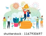 successful man and woman...   Shutterstock .eps vector #1167930697