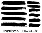 collection of hand drawn black... | Shutterstock .eps vector #1167933601