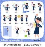 a set of school girl on... | Shutterstock .eps vector #1167939094