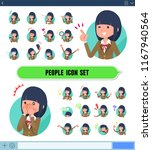 a set of school girl with... | Shutterstock .eps vector #1167940564