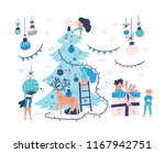 group of little people... | Shutterstock .eps vector #1167942751