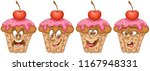 cupcake. bakery and pastry... | Shutterstock .eps vector #1167948331