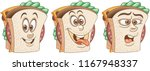 sandwich. burger. snack food... | Shutterstock .eps vector #1167948337