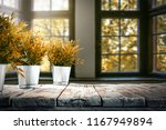 autumn  table and background of ... | Shutterstock . vector #1167949894