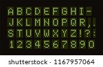 vector dotted font for digital... | Shutterstock .eps vector #1167957064