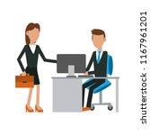 business partners working | Shutterstock .eps vector #1167961201