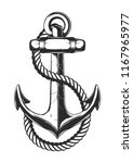 illustration of anchor and rope.... | Shutterstock .eps vector #1167965977