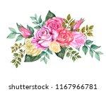 watercolor gouache elegant... | Shutterstock . vector #1167966781