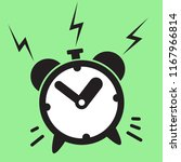 ringing alarm clock icon vector ... | Shutterstock .eps vector #1167966814