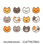 cute cartoon kitties in... | Shutterstock .eps vector #1167967861