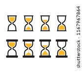 hourglass icon set in two...   Shutterstock .eps vector #1167967864