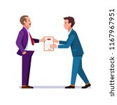 business man giving... | Shutterstock .eps vector #1167967951