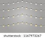 christmas lights isolated... | Shutterstock .eps vector #1167973267
