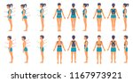 correct and incorrect posture... | Shutterstock .eps vector #1167973921