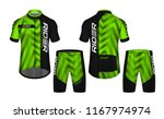 cycling jerseys mockup t shirt... | Shutterstock .eps vector #1167974974