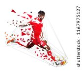 football player in red jersey... | Shutterstock .eps vector #1167975127