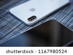 kiev 30 august 2018  iphone xs... | Shutterstock . vector #1167980524