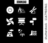 generator icon. 9 generator...   Shutterstock .eps vector #1167983461