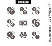 forex icon. 9 forex vector set. ... | Shutterstock .eps vector #1167983647