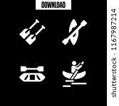 kayaking icon. 4 kayaking... | Shutterstock .eps vector #1167987214