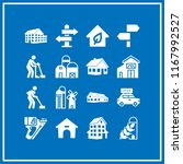 roof icon. 16 roof vector set.... | Shutterstock .eps vector #1167992527