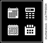agenda icon. 4 agenda vector... | Shutterstock .eps vector #1167993034