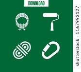 loop icon. 4 loop vector set.... | Shutterstock .eps vector #1167993127