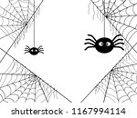 cobweb background with spider... | Shutterstock .eps vector #1167994114