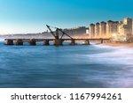 view of muelle vergara at dusk  ...   Shutterstock . vector #1167994261
