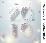 happy new year 2019 greeting... | Shutterstock .eps vector #1167996757
