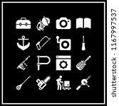 manual icon. 16 manual vector... | Shutterstock .eps vector #1167997537
