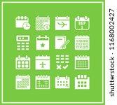 agenda icon. 16 agenda vector... | Shutterstock .eps vector #1168002427
