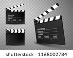 cinema clapper boards isolated. ... | Shutterstock .eps vector #1168002784