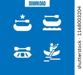 kayaking icon. 4 kayaking... | Shutterstock .eps vector #1168003204