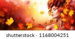 beautiful high fashion woman in ... | Shutterstock . vector #1168004251