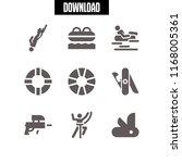survival icon. 9 survival... | Shutterstock .eps vector #1168005361