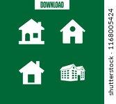 residence icon. 4 residence...   Shutterstock .eps vector #1168005424