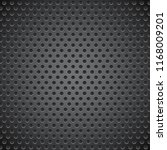 black metal perforated... | Shutterstock .eps vector #1168009201
