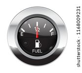 fuel car dashboard gauge.... | Shutterstock .eps vector #1168009231