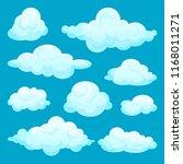 flat vector set of fluffy... | Shutterstock .eps vector #1168011271