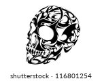 tribal skull vector | Shutterstock .eps vector #116801254