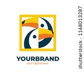 family toucan bird logo icon... | Shutterstock .eps vector #1168013287