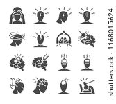 Headache Icon Set. Included...