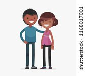 cute couples with isolated... | Shutterstock .eps vector #1168017001
