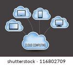 cloud computing concept design. ... | Shutterstock .eps vector #116802709