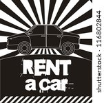 rent a car announcement  black... | Shutterstock .eps vector #116802844