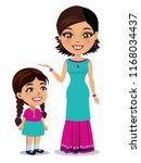 an indian woman wearing a... | Shutterstock .eps vector #1168034437